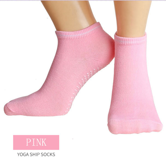 Wholesale Non Slip Toeless And Backless Yoga Sock with Silicone Dots