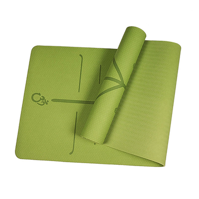 Best Anti Slip Green Thick Yoga Mat With Designs Online