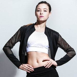 New fashion design woman sports wear fitness yoga coat and jacket
