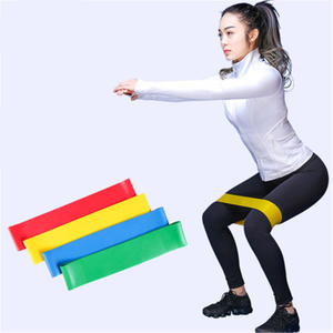 Customized Logo Exercise Fitness Resistance Stretch Bands Set Latex Elastic Ring