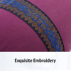 Embroidery Printing Round Shape Cotton Yoga Pillow Meditation Pilates Yoga Bolster Buckwheat Cotton Inside