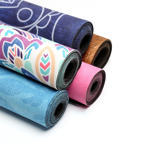 Custom Microfiber Suede Natural Rubber Yoga Mat -- Foldable, Travel Mat, Lightweight