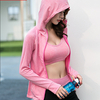 Fitness Running Sports Yoga Suits 5 Pieces T Shirts Bra Shorts Pants Hoodies Set Athletic Apparel Women