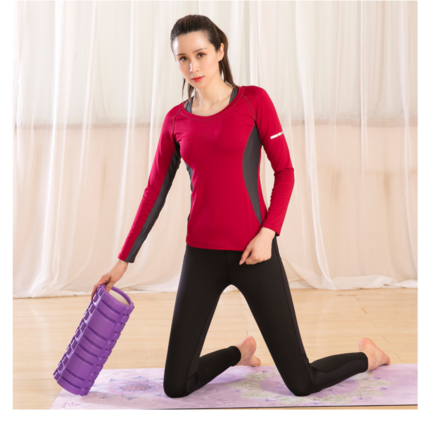 Womens Active Plus and Regular Size Yoga Wear Fitness Set Tracksuits Long Sleeves