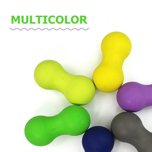 Wholesale Custom Non-toxic Eco Elastic Rubber Peanut Lacrosse Ball Double Silicone Massage Ball