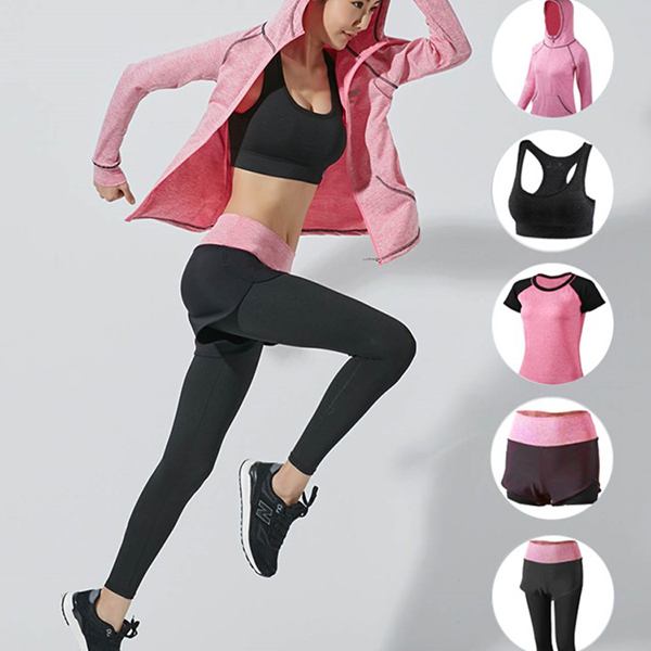 OEM Custom Logo Design Apparel Fitness Sports Flexibility Workout Womens Active Wear Sets