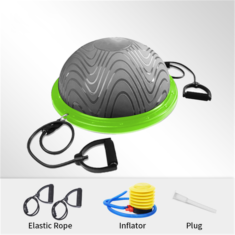 Multi-Functional Balance Hemisphere Yoga Ball, Balance Trainer Core Exercise Ball,Half Massage Yoga Ball
