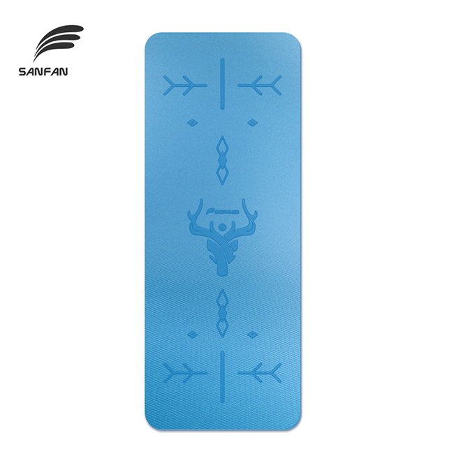 New Products Design Double Side Anti Skid Eco Friendly TPE Yoga Mat