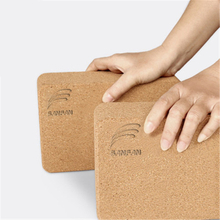 Manufacturers custom logo yoga brick eco friendly cork yoga block