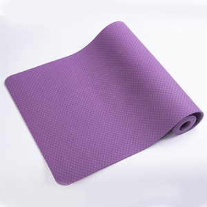 Eco Friendly Body Line Private Label Anti Slip 6mm Single Layer TPE Yoga Mat